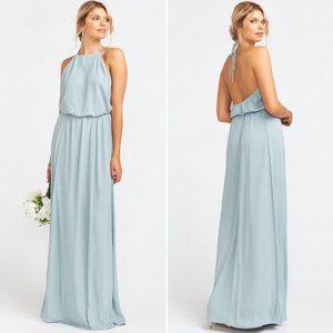 Show Me Your Mumu Heather Halter Dress Silver Sage